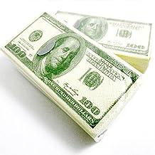Gomangos 2 Packs $100 Dollar Bill Facial Tissue Napkins Benjamins Fake Money Gag Gift