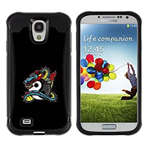 Suave TPU GEL Carcasa Funda Silicona Blando Estuche Caso de protección (para) Samsung Galaxy S4 IV I9500 / CECELL Phone case / / Dragon Tattoo Graffiti Black Yin Yang /
