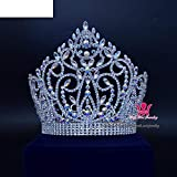 Gorgeous Large Luminous Beauty Pageant Miss Beauty Queen Crown Tiara Diadem Princess Crown Tiara Hair Band Accessory Prom Night About Wedding Birthday Party Clup 02164