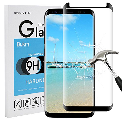 good Bukm Galaxy S8 Screen Protector, Glass Screen Protector