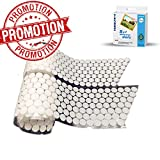 Farielyn-X Self Adhesive Dots,1000PCS(500 Pair Sets) 0.78inch, Sticky Back Coins Hook & Loop Self Adhesive Dots for Craft Decoration in School,Office or Home,White
