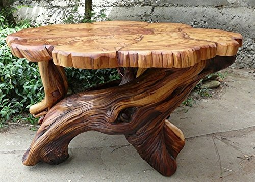Amazing Amazon Com Natural Tree Trunk Coffee Table Handmade Home Interior And Landscaping Mentranervesignezvosmurscom