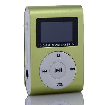 Amazon.com: e-xujing Clip de Metal Digital MP3 Player Radio ...