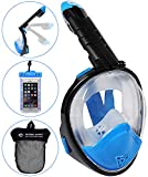 HELLOYEE Foldable Snorkel Mask Full Face Snorkeling Mask for Adults and Kids 180°