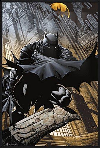 Batman - Framed DC Comics Poster / Print (The Dark Knight / Crouching On Gargoyle) (Size: 24