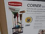 Rubbermaid Corner Tool Rack, Tool Organizer, Broom