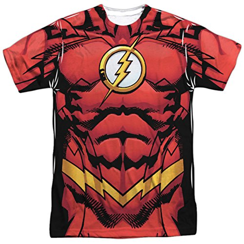 Crimson Bolt Costume (The Flash- New 52 Costume Tee T-Shirt Size L)