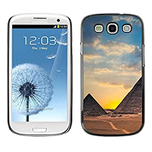 Hot Style Cell Phone PC Hard Case Cover // M00102627 nature egypt pyramids // Samsung Galaxy S3 i9300