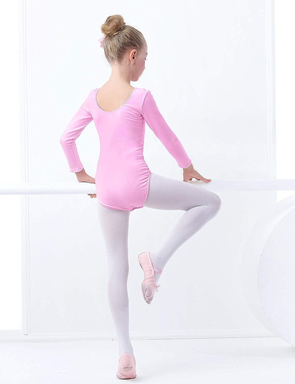 Daydance Ballet Leotards for Girls Short Sleeve Leotards for Dancing 2-15T