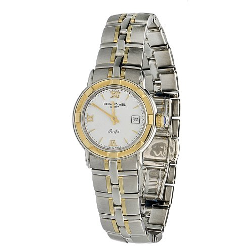 Raymond Weil Women's 9440-STG-00307 Parsifal Stainless Steel Case & 18k Gold Bracelet Watch