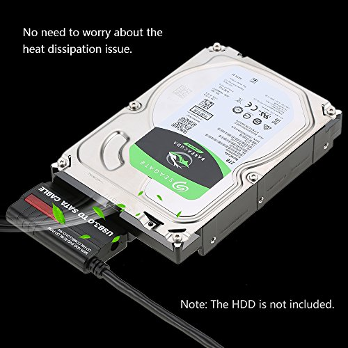 USB 3.0 to SATA IDE Adapter Converter Cable Connect SATA HDD DVD-ROM CD-ROM, CD-RM COMBO, 2.5/3.5 Inch HDD Hard Drive Disk External Cloning kit With Power Supply for Windows7/8/10,Linux,Mac by precious tech (Image #4)