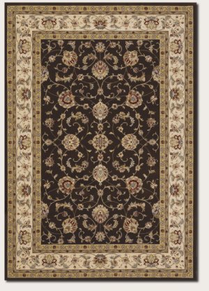 Couristan 5736/3767 Everest Soraya Area Rugs, 9-Feet 2-Inch by 12-Feet 5-Inch, Chocolate ()