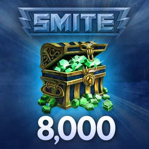 8000 SMITE Gems - PC ONLY [Online Game Code]