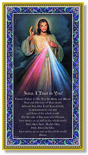 (40 7/18) Divine Mercy Fine Art Italian Plaque With Prayer 5