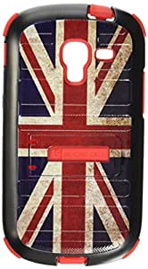 Beyond Cell TSSST599DE314Y02 Tri-Shield Durable Hybrid Hard Shell and Silicone Gel Case for Samsung Galaxy Exhibit T599, Retail Packaging, Black/Red