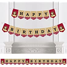 Little Cowboy - Birthday Party Bunting Banner - Western Party Decorations - Happy Birthday