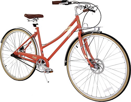 Cheap Columbia Bicycles Relay 700C Women's Vintage 3-Speed City Cruiser Bike, Coral, 18″/One Size