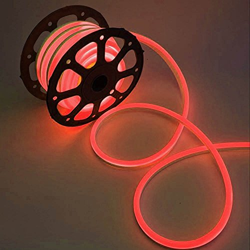 WYZworks Red Flexible Water Resistant Soft Single Side LED Neon Rope Light Strip Bar 100FT by WYZworks