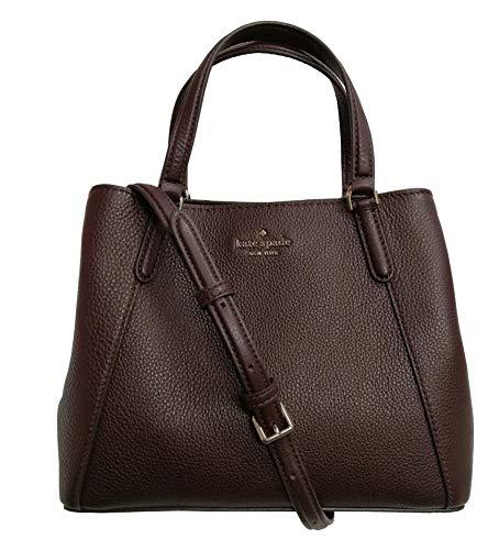 Kate Spade New York Jackson Pebble Leather Medium Triple Compartment Satchel Crossbody Chocolate Cherry