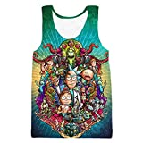 YX GIRL Rick Morty Tank Tops Unisex 3D Printed Vest Summer t-Shirt (L/XL, R-MV1)