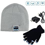 Amazon Lightning Deal 88% claimed: Moretek Wireless Bluetooth Beanie Hat Cap with Musicphone Speakerphone Stereo Headphone Headset Earphone Speaker Mic for Fitness Outdoor Sports Skiing Running Skating Walking, Christmas Gifts Plus Hat + Smart Touch G...