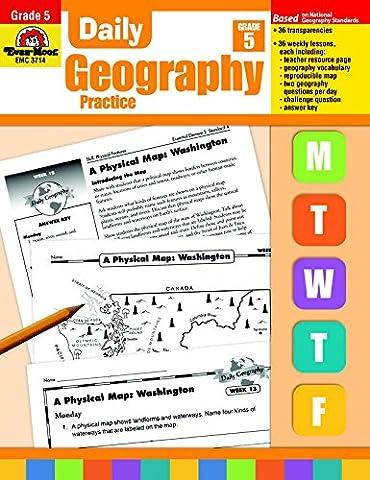 EVAN MOOR Daily Geography Practice, Grade 5 (Geography Practice)