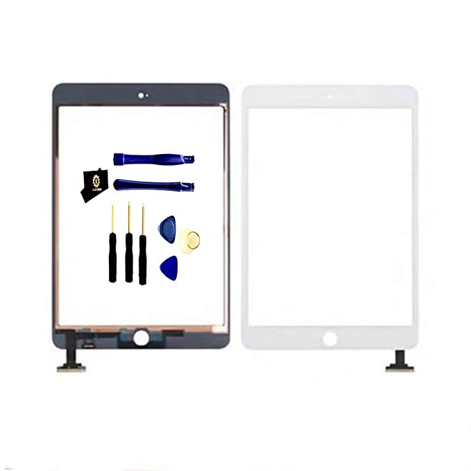 KAKUSIGA Compatible with iPad Mini 3 (3rd Generation) Retina Display Touch  Screen Digitizer Glass OEM Assembly, IC Chip, Adhesive Tape, and Repair