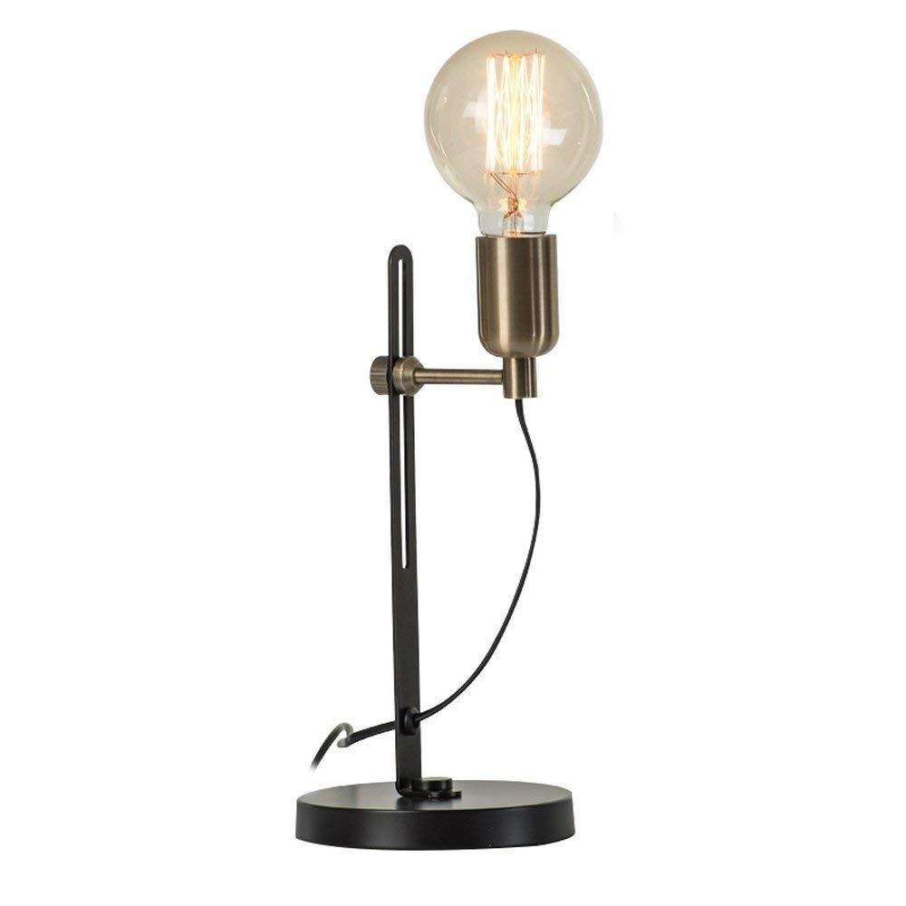 IRVING ベッドサイドランプ寝室クリエイティブファッションシンプル現代北欧人格エジソン電球装飾レトロテーブルランプ   B07RYJNZTQ