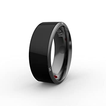 Boblov JAKCOM Timer Smart Ring-R3,Waterproof App Enabled Rings,App Enabled  Wearable Technology with Health Stone Universal for iPhone iOS and All