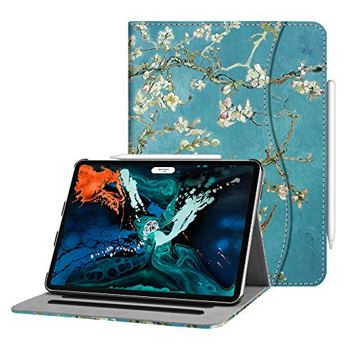 (Fintie Case for iPad Pro 12.9 3rd Gen 2018 [Supports Apple Pencil 2nd Gen Charging Mode] - [Multi-Angle Viewing] Folio Smart Stand Cover w/Pocket [Secure Pencil Holder] Auto Sleep/Wake,)