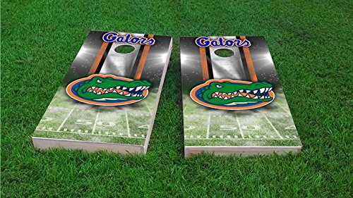 Tailgate Pro's Florida Gators Home Stadium Cornhole Boards, ACA Corn Hole Set, Comes with 2 Boards, 8 All Weather Bags, 1 Vinyl Case & 2 Board Hole Lights