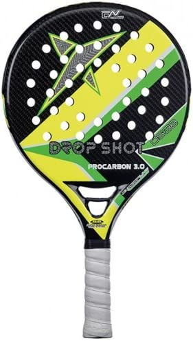 DROP SHOT ProCarbon 3.0 - Pala de pádel, Color Negro/Amarillo ...