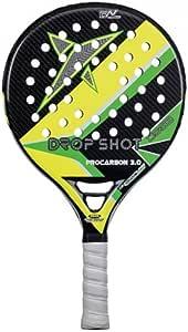 DROP SHOT ProCarbon 3.0 - Pala de pádel, Color Negro/Amarillo ...