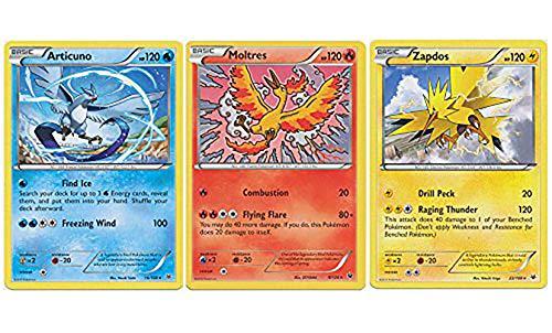 Legendary POKEMON Set - Articuno Moltres Zapdos - XY Roaring Skies - Legendary Bird LOT Bundle