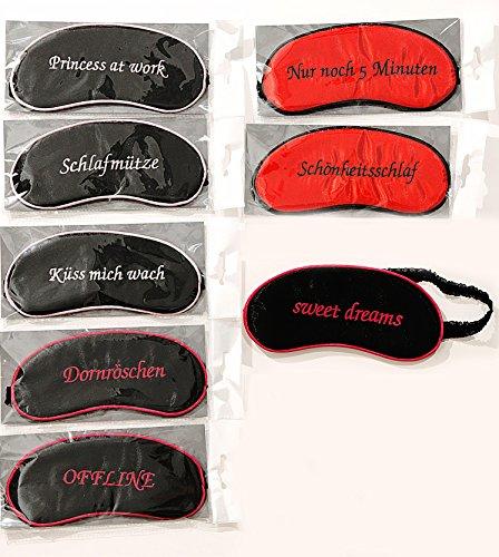 Schlafmaske mit Spruch Augenmaske Augen Maske Binde Schlafbrille Augenbinde (Dornröschen)