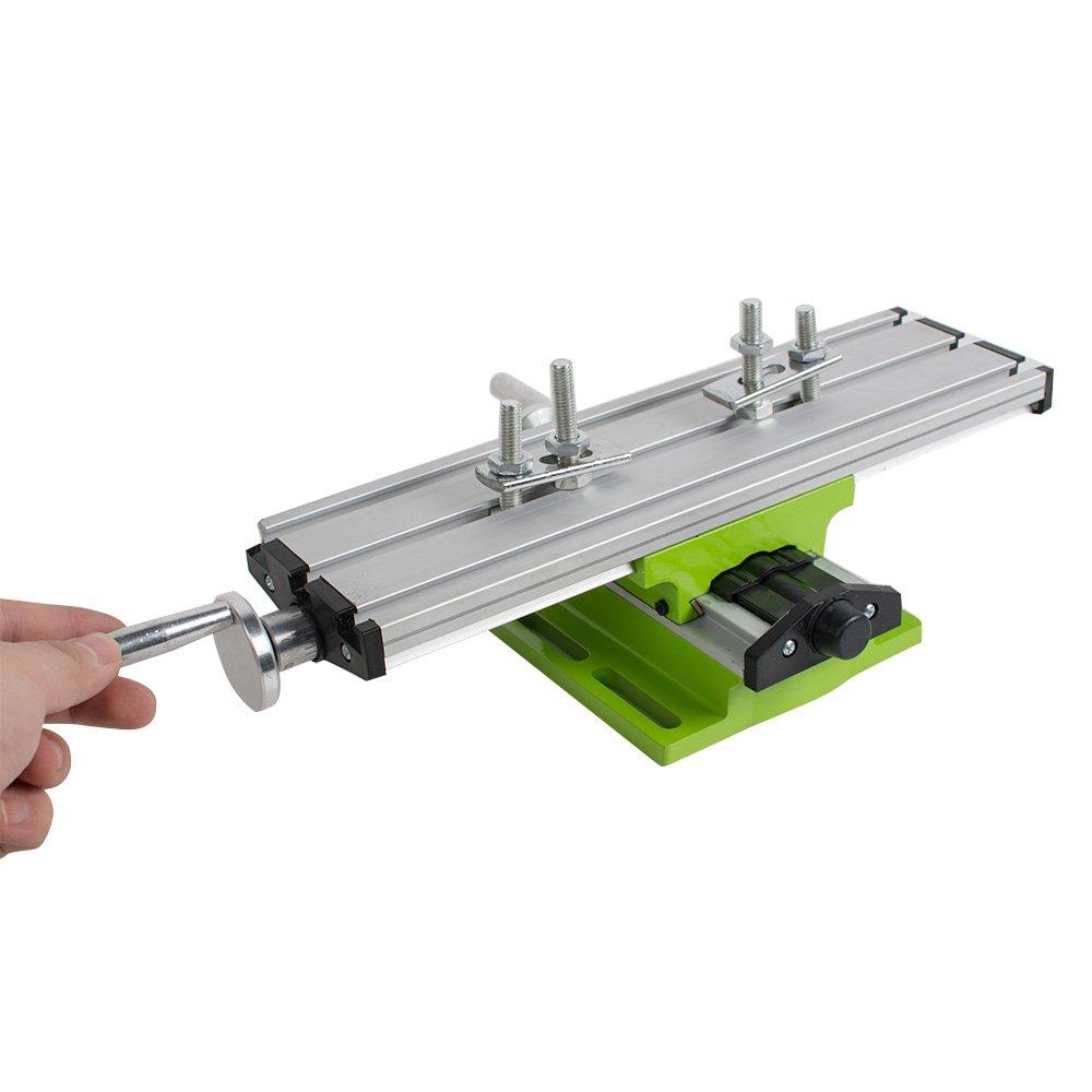 Denshine Multifunction Worktable Milling Machine Adjustable Cross Sliding Milling Working Table Vise for DIY Lathe Bench Drill
