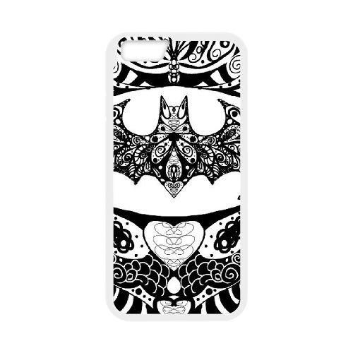 Batman coque iPhone 6 Plus 5.5 Inch Housse Blanc téléphone portable couverture de cas coque EBDOBCKCO09761