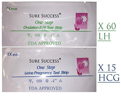 Sure Success® Combo 60 (Lh) Ovulation & 15 (Hcg) Pregnancy Test Strips; Includes - Calculator For Couponing