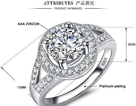 US Code 6 Yuren New 925 Silver White Sapphire Birthstone Engagement Wedding Jewelry Ring Sz 6-10