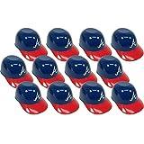 MLB Mini Batting Helmet Ice Cream Sundae/Snack Bowls, Braves - 12 Pack