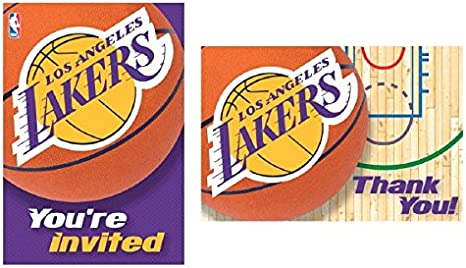 Amazon.com: L.A. Lakers NBA Fiesta Invitaciones y tarjetas ...