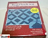 Creations by Caron: Diamond Quilt Rug Hook Kit Art#HR0003