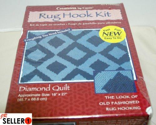 Creations by Caron: Diamond Quilt Rug Hook Kit Art#HR0003 by Caron International