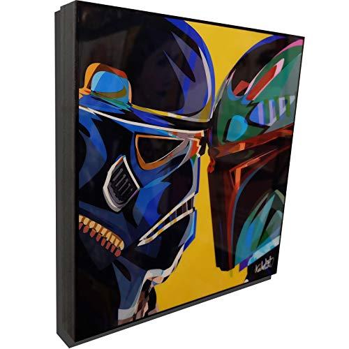 Stormtrooper vs Bounty Hunter Star Wars Poster POP Art Print Canvas Quotes Wall Decals Framed Fan -