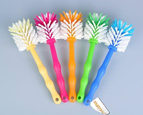 Spülbürste Tassenbürste - ideal für Thermomix ® TM5 TM31 und TM21 - mit Nylonborsten (5er Pack (je Farbe 1x) zum Sparpreis)