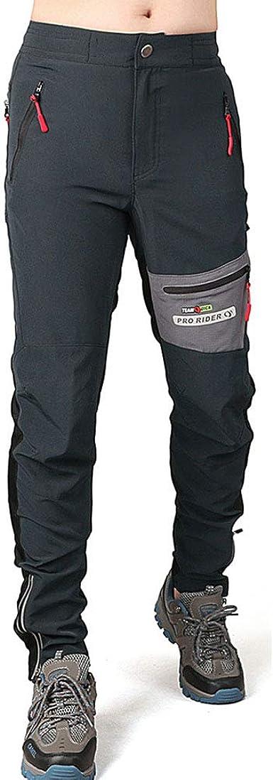 OJKYK Pantalon Montaña Hombre Secado Rápido Impermeable ...