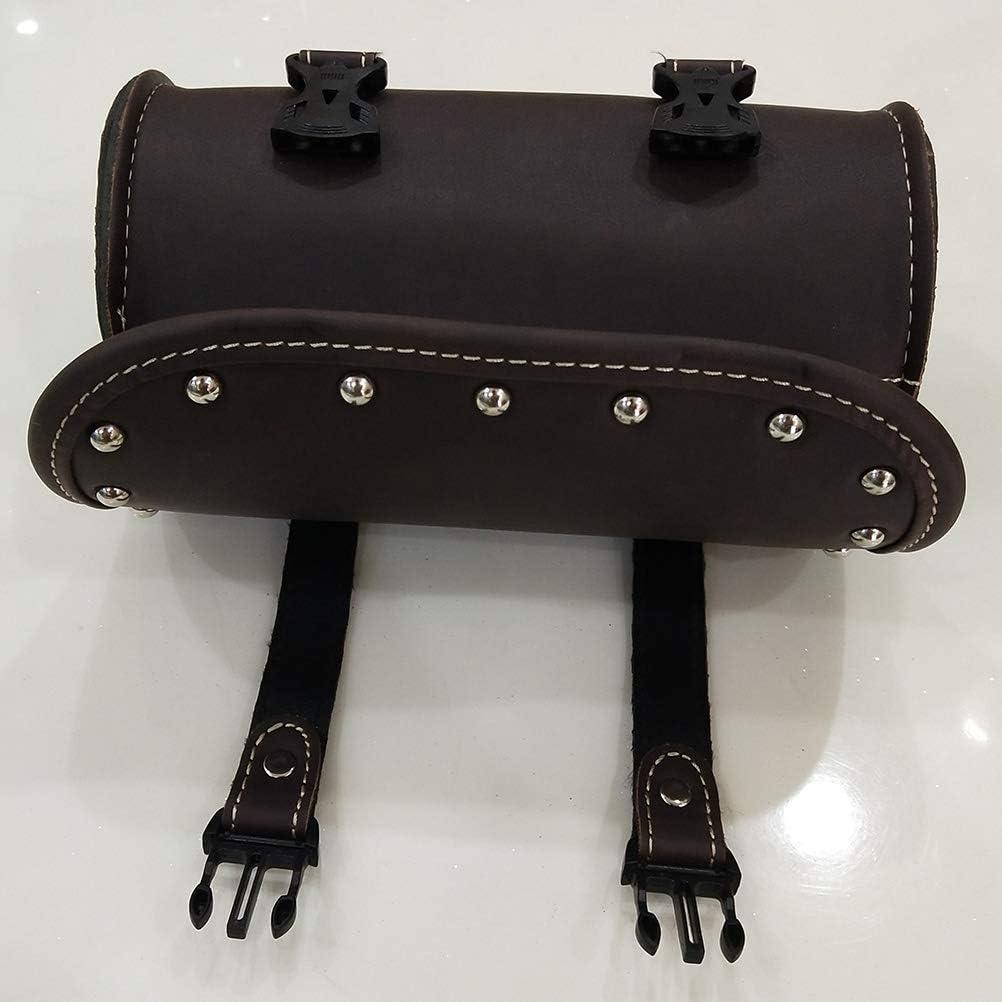 American Made Embossed Eagle Genuine Leather Black Motorcycle Tool Bag