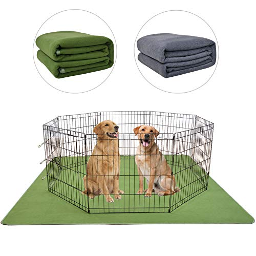 LOOBANI 2 Packs Extra Large 72″ 72″ Reusable Dog Mat for Floor, Non-Slip Washable Pee Pad for Dogs, Fast Absorbent Pet Whelping Pads, Puppy Playpen Mat for Incontinence, Housebreak, Crate