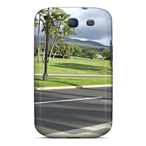 New Snap-on NikRun Skin Case Cover Compatible With Galaxy S3- Beautiful Lscape In Front Of The Shop At Wailea Maui Hawaii