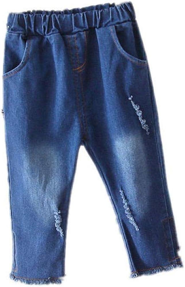 NOBRAND Jeans Niña Niños Bebé Pantalones Largos Pantalones de Mezclilla Tide Jeans Chicas Ripped Jeans